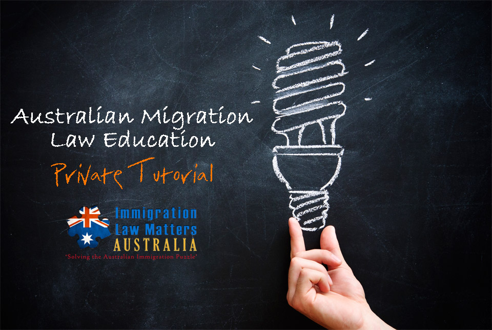 Australian Migration Law Education - Private Tutorials